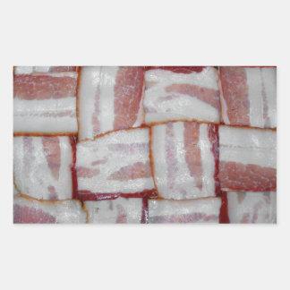 Bacon Weave Rectangular Sticker