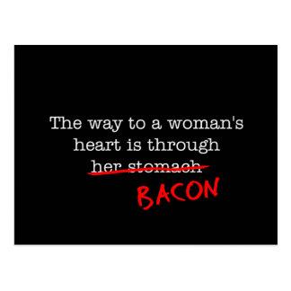 Bacon Woman s Heart Postcard