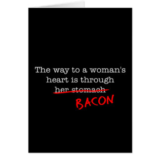 Bacon Woman's Heart Cards