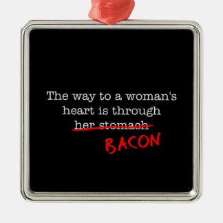Bacon Woman's Heart Christmas Ornament