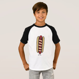 Bacon Wrapped Hot Dog Hotdog Wiener Bacon-wrapped T-Shirt