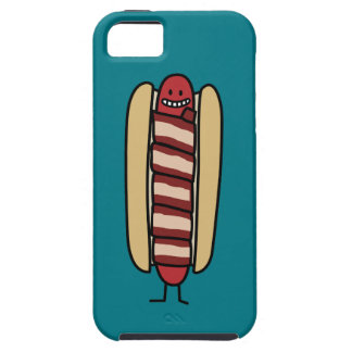 Bacon Wrapped Hot Dog Hotdog Wiener Bacon-wrapped Tough iPhone 5 Case