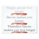 "baconlogicwithbacon 4.25"" x 5.5"" invitation card"