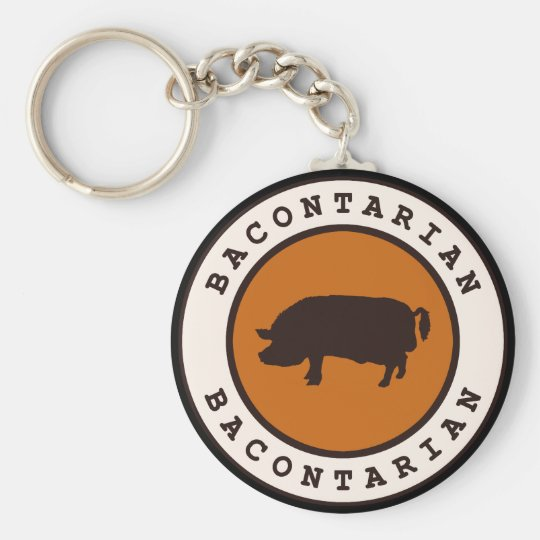 Bacontarian Basic Round Button Key Ring