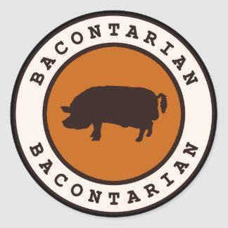 Bacontarian Classic Round Sticker