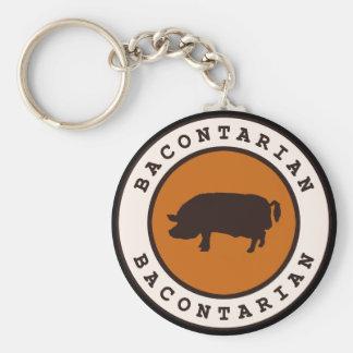 Bacontarian Basic Round Button Key Ring
