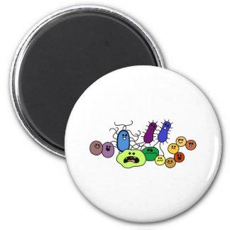 Bacteria 6 Cm Round Magnet