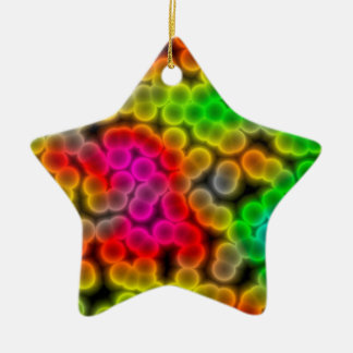 Bacteria abstract background. ceramic star decoration