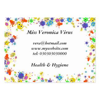 Bacteria Border, Business Card Template