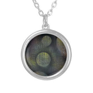 Bacteria enmeshed silver plated necklace