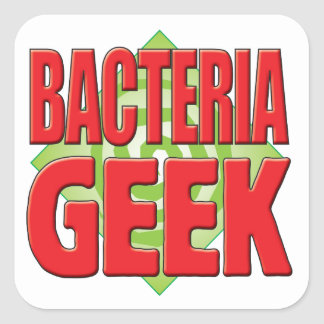 Bacteria Geek v2 Square Sticker
