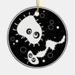 Bacteria Round Ceramic Decoration