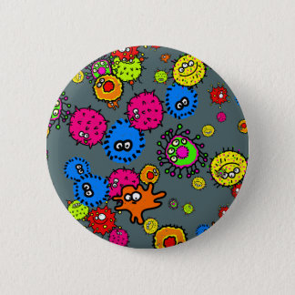 Bacteria Wallpaper 6 Cm Round Badge