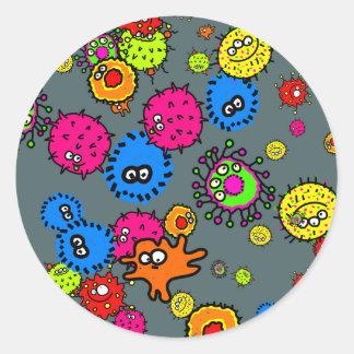 Bacteria Wallpaper Classic Round Sticker