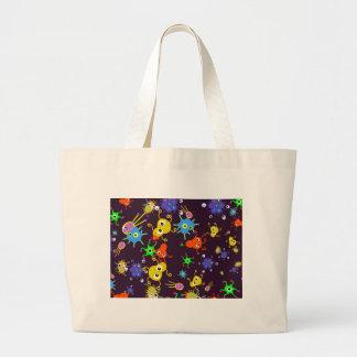 Bacteria Wallpaper Large Tote Bag