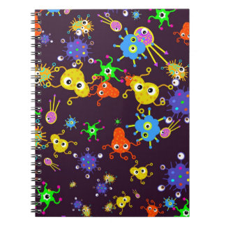Bacteria Wallpaper Spiral Notebook