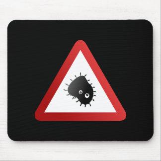 Bacteria Warning Sign Mousemat