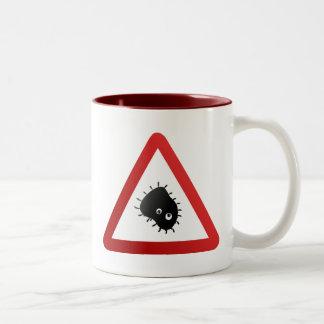 Bacteria Warning Sign Mug