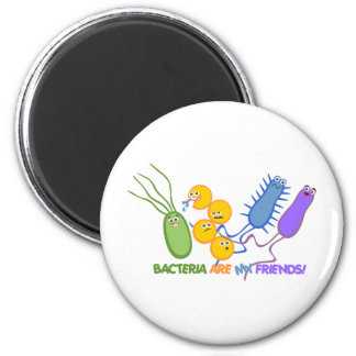 Bacterial Friends 6 Cm Round Magnet