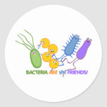 Bacterial Friends Classic Round Sticker