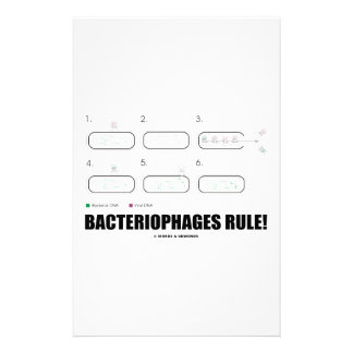 Bacteriophages Rule! (Bacteria Virus DNA) Customised Stationery