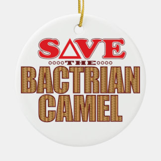 Bactrian Camel Save Christmas Ornament
