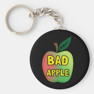 Bad Apple Key Ring