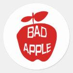 Bad Apple Round Sticker
