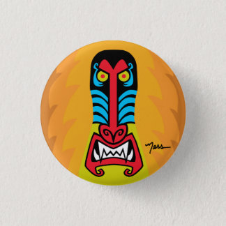 BAD ASS BABOON 3 CM ROUND BADGE