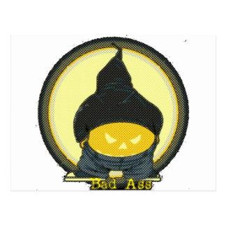 bad ass (full moon) postcard
