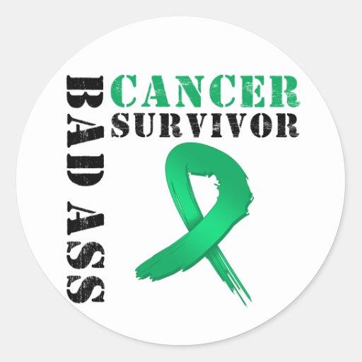 Bad Ass Liver Cancer Survivor Round Sticker