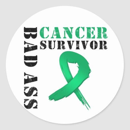 Bad Ass Liver Cancer Survivor Classic Round Sticker