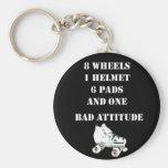 Bad Attitude Basic Round Button Key Ring