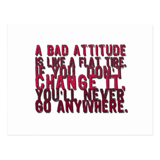 bad attitude products post cards