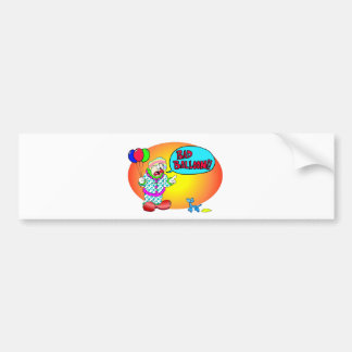 Bad Balloon Car Bumper Sticker