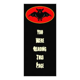Bad Bat Bookmark Template Personalized Rack Card