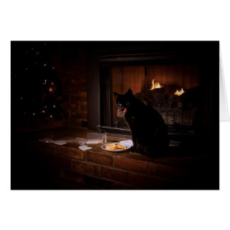 Bad Black Cat Christmas Card