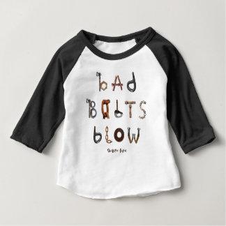 Bad Bolts Blow - Baby American Apparel Raglan Tee