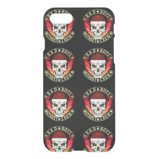 Bad Boys Street Crew Bandana Skull Black & Gold iPhone 7 Case
