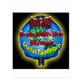 BAD Brain Addiction Disease Postcard