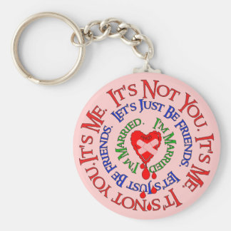 Bad Break-Up Excuses Basic Round Button Key Ring