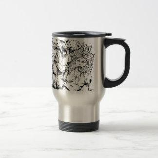 BAD BUNNY WABBIT Artist Original Sketch and Design Coffee Mugs