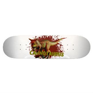 Bad Carnotaurus Splashing Blood Green and Red Skate Board Decks