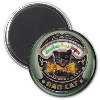 Bad Cat button Magnet