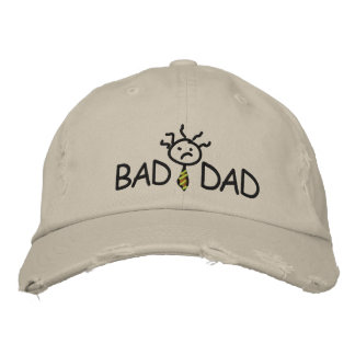 Bad Dad Wear Hat Embroidered Baseball Cap