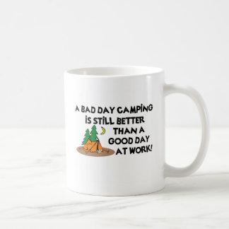 Bad Day Camping... Basic White Mug