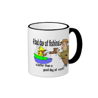 Bad Day Fishing Ringer Mug