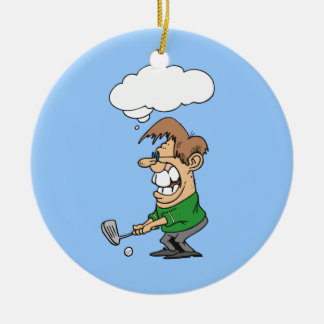 Bad Day Golfer T-shirts and Gifts Round Ceramic Decoration