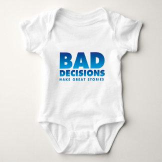Bad decisions baby bodysuit