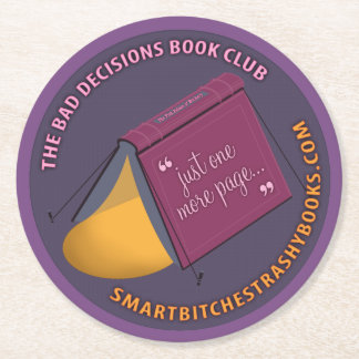 Bad Decisions Book Club Paper Coasters